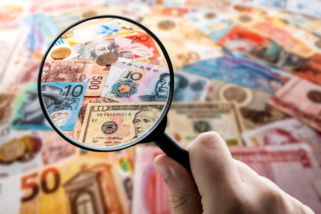 Câmbio monetário para troca de moedas