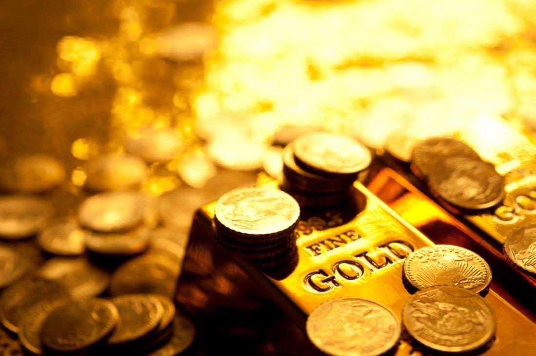 diferença entre barras de ouro e moedas de ouro